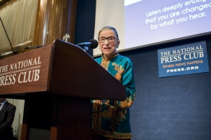 Supreme Court Justice Ruth Bader Ginsburg urged reconciliation after the recent divisive presidential campaign at a Nov. 17 Sustained Dialogue Institute event held at the National Press Club.