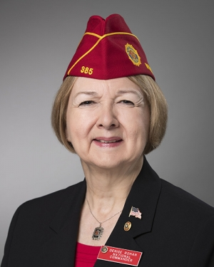 American Legion Commander Denise Rohan will discuss ways Congress and the Trump administration can improve delivery of benefits to veterans at a Naional Press Club Headlienrs Newsmaker press conference on Feb. 23.