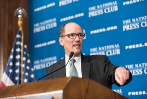 Labor Secretary Thomas Perez highlighted a number of recent rulemakings that he said would benefit American workers and retirees.