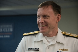 NSA Director Michael Rogers before his speech at National Press Club luncheon Thursday