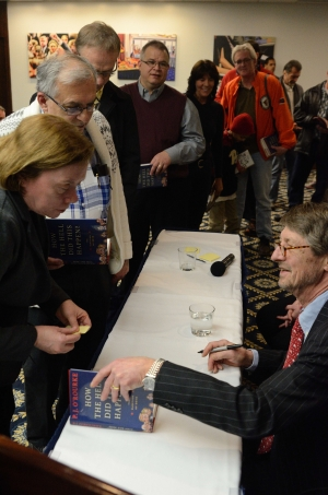 """P.J. O'Rourke signs copies of """"How the Hell Did This Happen: The Election of 2016."""""""