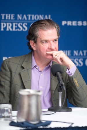 CNN Security Analyst Peter Bergen, author of United States of Jihad: Investigating America's Homegrown Terrorists listens to an audience question during a Book Rap at that National Press Club on April 1, 2016.