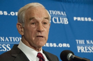 Ron Paul, candidate for the Republican presidential nomination, speaks at the National Press Club, Oct. 5, 2011.