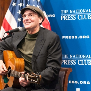 Singer/Songwriter James Taylor performed for a sold out house of members and guests at a National Press Club Luncheon, December 7, 2012.  Mr Taylor also discussed campaign finance reform among other political issues.
