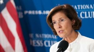 Inez Tenenbaum, chairwoman of the Consumer Product Safety Commission, speaks at a National Press Club Newsmaker on Aug. 9, 2012.