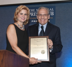 Theresa Werner and Bob Woodward