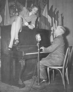 This image of Vice President Harry Truman and actress Lauren Bacall at the National Press Club on Feb. 10, 1945, is one of the most famous depictions of a moment in Club history.