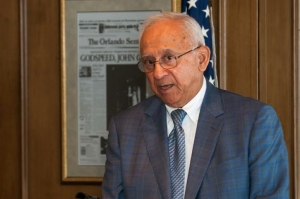 Retired Navy commander Everett Alvarez Jr. spoke at a meeting of American Legion Post 20 at the National Press Club, July 17, 2014.