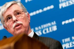 Amtrak President Joseph H. Boardman speaks at the Jan. 10 Club luncheon.