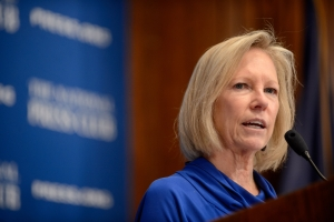 Kathy Calvin, president and chief executive of the United Nations Foundation, told a March 20 National Press Club luncheon that empowering adolescent girls is the key to alleviating global poverty.