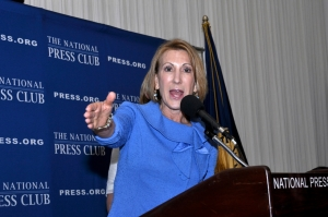 Carly Fiorina, chief executive of Good360 and former chairman of Hewlett Packard, said that Washington regulations hamper entrepreneurs at a July 1 National Press Club luncheon.