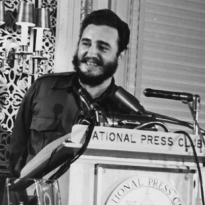 Fidel Castro speaking at the Club in 1959.