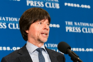 Ken Burns speaks at a Club Luncheon.