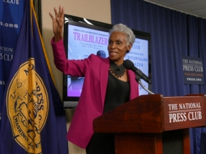 "Civil Rights journalist Dorothy Butler Gilliam describes her book ""Trailblazer"" at an NPC Headliner Event on Jan. 24, 2019."