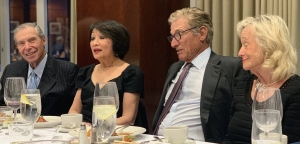 Connie Chung and Maury Povich flanked by Maury's brother David and David's wife Connie at a National Press Club Legends of Broadcasting dinner April 17.