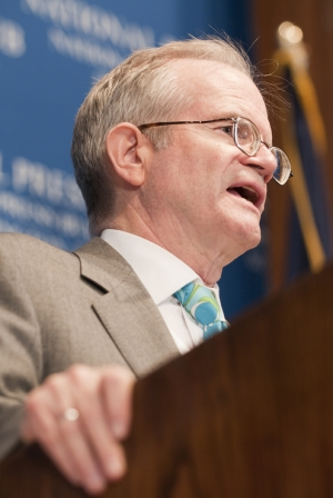 Paul Steiger, the editor-in-chief of ProPublica and managing editor of the Wall Street Journal from 1991 to 2007, speaks at a June 15, 2010 National Press Club Luncheon.  Mr....
