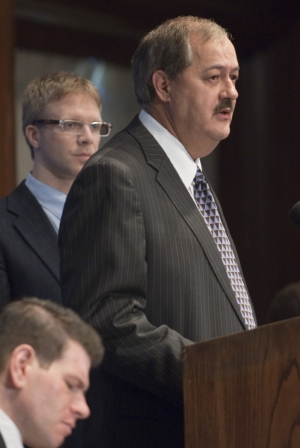 Don L. Blankenship, chairman and chief executive officer of Massey Energy Company, speaks at a July 22, 2010 National Press Club luncheon.  Mr. Blankenship discussed the need to increase...