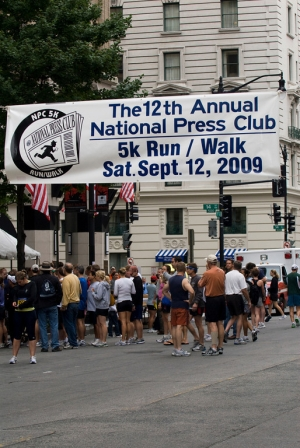 A view of the finish area after the 12th Annual National Press Club 5k.