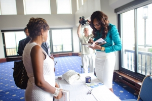 Venus Williams signs books following her July 7 NPC luncheon event. In her speech, Williams discussed the 2010 Wimbledon tournament, her play with the Washington Kastles and her new book....
