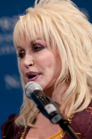 Dolly Parton at the National Press Club weekly luncheon for speakers.