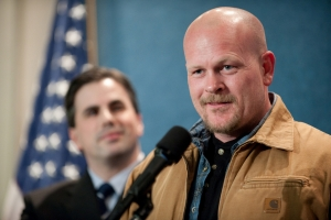 Joe the Plumber at the National Press Club weekly luncheon for speakers.
