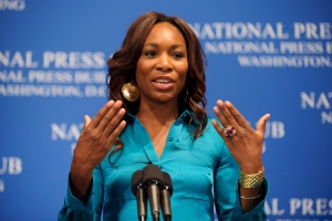 Venus Williams addressed a sold-out crowd at a July 7 NPC luncheon event. She discussed the 2010 Wimbledon tournament, her play with the Washington Kastles and her new book