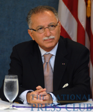 Ekmeleddin Ihsanoglu, Secretary General of the Organization of the Islamic Conference, at a June 23, 2009 Newsmaker press conference.Photo: Gregory Tinius