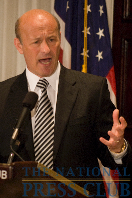Stan Kasten, President of the Washington Nationals, at a June 25 National Press Club luncheon event.Photo: Noel St. John