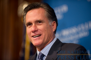Mitt Romney, former Governor of Massachusetts, addresses a luncheon at The National Press Club.Photo: Sam Hurd
