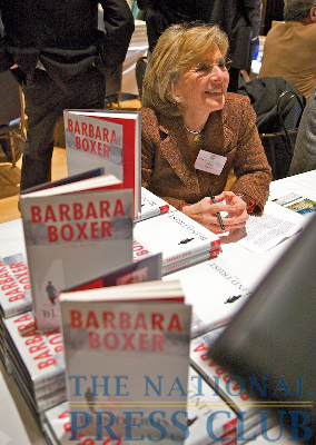 Senator Barbara Boxer at the Book Fair and Authors night, National Press Club.Photo: Michael Foley