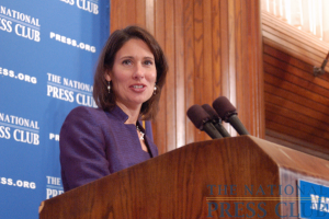 NTSB Chairman Hersman shares agency's view of transportation accident reporting by news media.Photo: Terry Hill