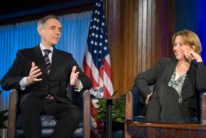 Associated Press President Tom Curley and NPR President Vivian Schiller.Photo: Noel St. John