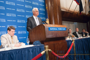 Dr. Edward Miller, Dean and CEO of Johns Hopkins Medicine discusses the new health care law at a June 21, 2010 National Press Club Luncheon. Dr. Miller was joined at...
