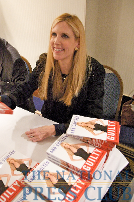 Ann Coulter at the Book Fair and Authors night, National Press Club.Photo: Michael Foley