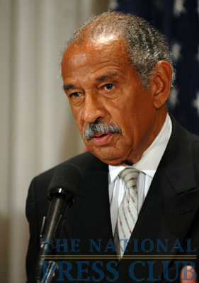 Rep. John Conyers, (D-MI), Chair, House Judiciary Committee, answers questions from the audience at a Press Club Luncheon on July 24, 2009.Photo: Gregory Tinius