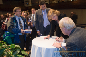 Hardball's Chris Matthews signs copies of his book, Hardball Life at The National Press Club.Photo: Noel St. John