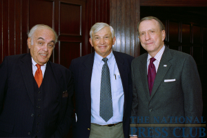 (From L to R): Robert Novak, NPC member Carl Ericson and Senator Arlen Specter.Photo: Rex Stuckey