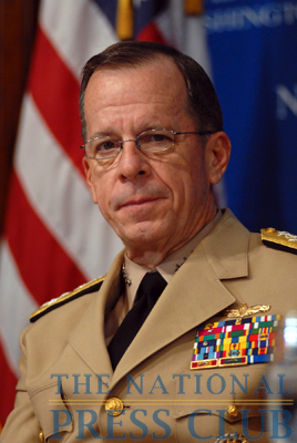Adm. Mike Mullen, Chairman of the Joint Chiefs of Staff, at a Press Club Luncheon on July 8, 2009.Photo: Gregory Tinius