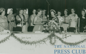 Liz Carpenter's inauguration as President of the Women's National Press Club in 1954.Photo: Unknown