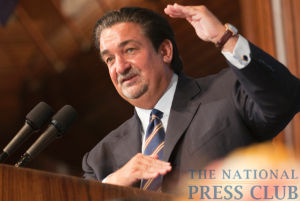Ted Leonsis, owner of the Washington Capitals speaks at a National Press Club Luncheon, May 21, 2010. Mr. Leonsis stated that he is at item number 81 on his list...