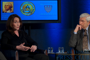 Cami McCormick of CBS News describes the dangers inherent in reporting from the war zones of Iraq and Afghanistan during a March 8 Kalb Report at the National Press Club....