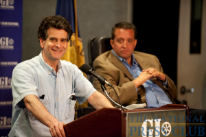 Dean Kamen, and inventor and entrepreneur, and Bill Chatfield, director of the Selective Service System, discuss how a low Medicare reimbursement rate has put out of production a mobile wheelchair...
