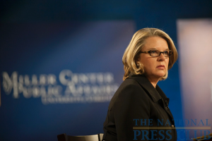 Margaret Spellings, Pres. and CEO, Margaret Spellings & Company; former Secretary of Education, at a Miller Center Debate event, held Feb. 26, 2010 at the National Press Club.Photo: Stephanie Gross