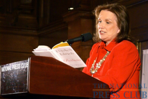 Author Elizabeth Edwards reads from her book, Resilience, at an NPC book event on May 21, 2009.Photo: Kyle McKinnon