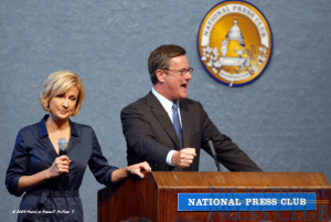MSNBC's Mika Brzezinski and Joe Scarborough at a June 18 NPC book event.Photo: PerfecT PicTure T