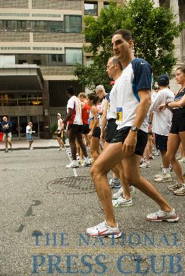 Runners line up at the starting line for the 12th Annual NPC 5k Race.Photo: Noel St. John
