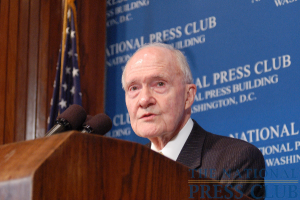 Although the U.S. is facing difficult times, the crises are nothing new; the nation is resilient, notes former Ford administration National Security Advisor Brent Scowcroft speaking to Ford Journalism Awards...