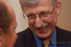NIH Director Dr. Francis S. Collins greets guests prior to his Press Club address.Photo: Terry Hill