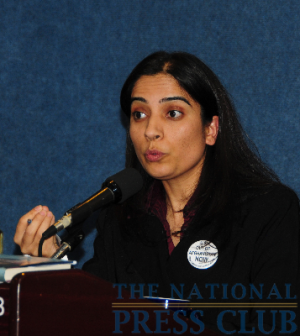 Malalai Joya speaks on Afghan Women's Rights at the National Press Club.Photo: Al Teich
