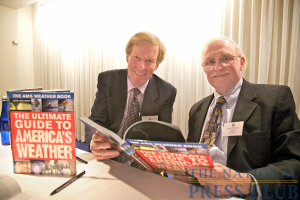 Weatherman Bob Ryan and author Jack Williams at the Book Fair and Authors night, National Press Club.Photo: Michael Foley